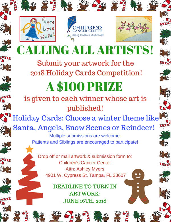 Childrens cancer center holiday cards calling all artists submit your artwork m4hsunfo